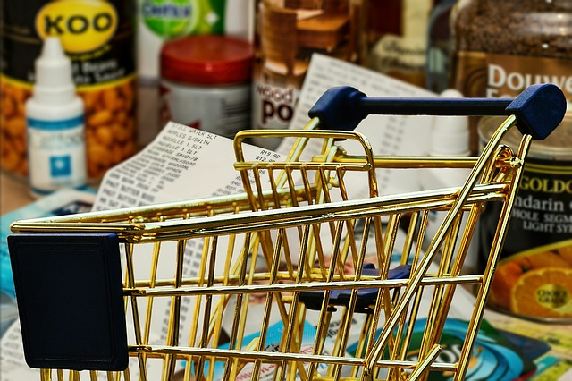 košík u nákupu