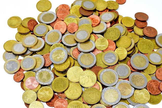 peníze z kovu