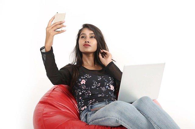 pořizování selfie
