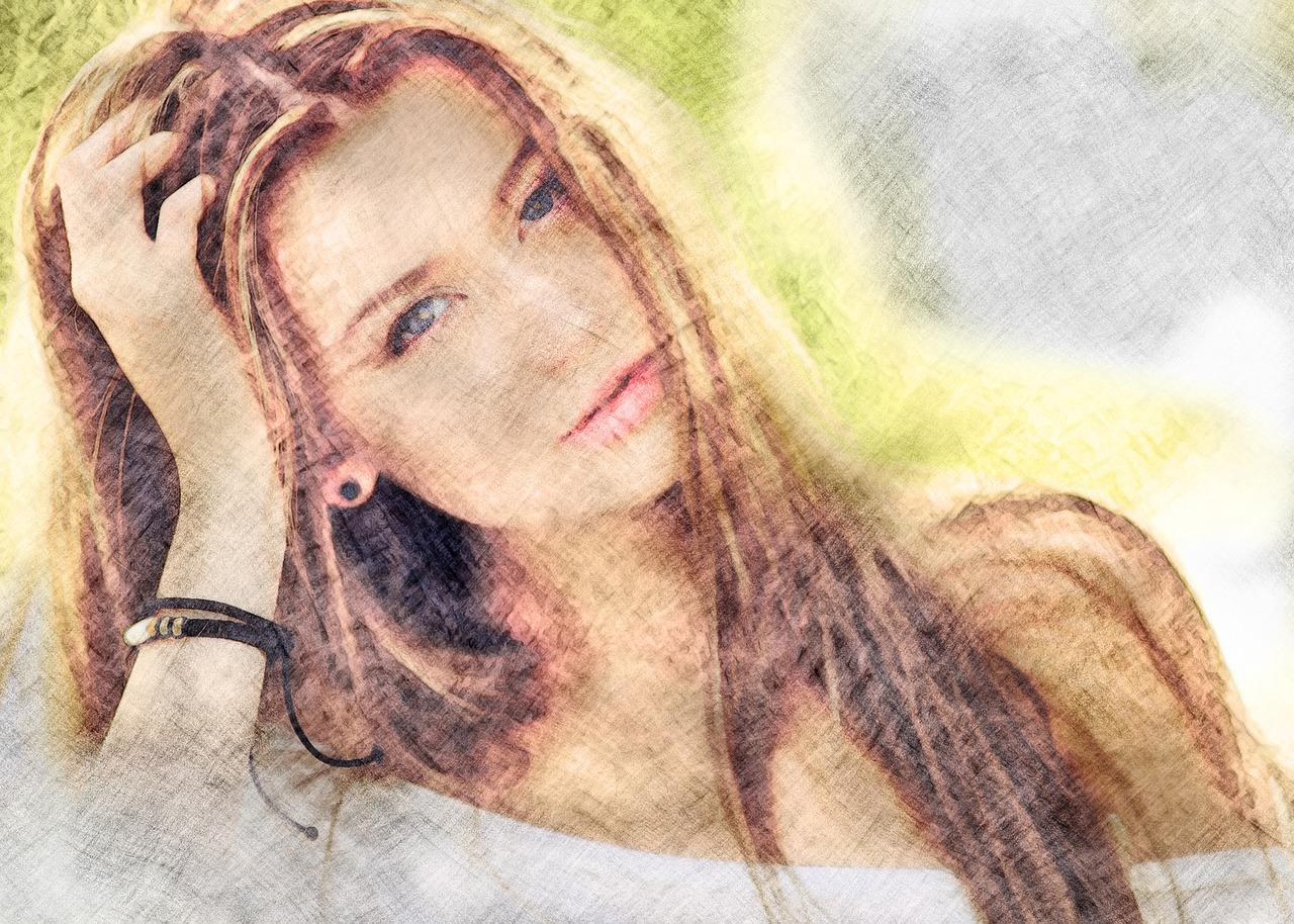 krásná ženská tvář