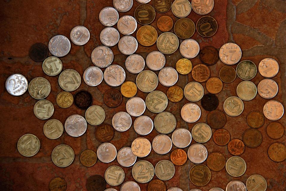rozložené mince